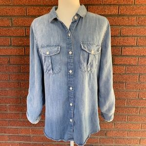 Thread & Supply Large Chambray Button-Down Shirt